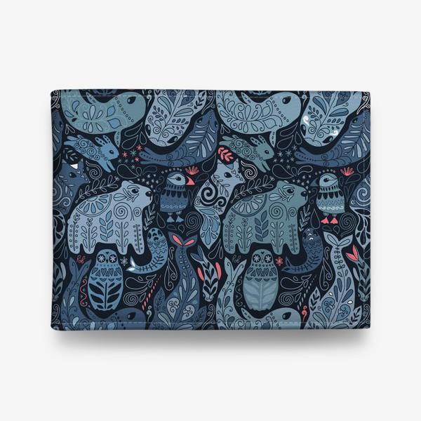 Кошелек «Друзья Арктики. Зимние животные. Медведь, тупик, нарвал, кит, заяц, лиса, сова, морской котик, тюлень.»