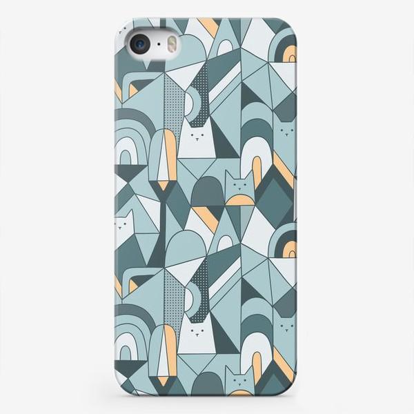 Чехол iPhone «Коты в геометрии»