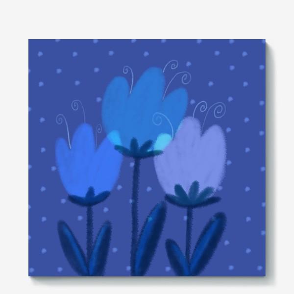 Холст «Синие тюльпаны»