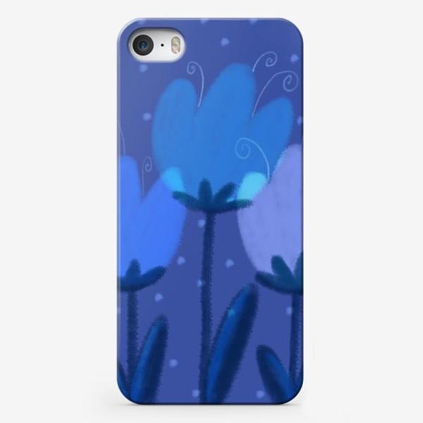 Чехол iPhone «Синие тюльпаны»