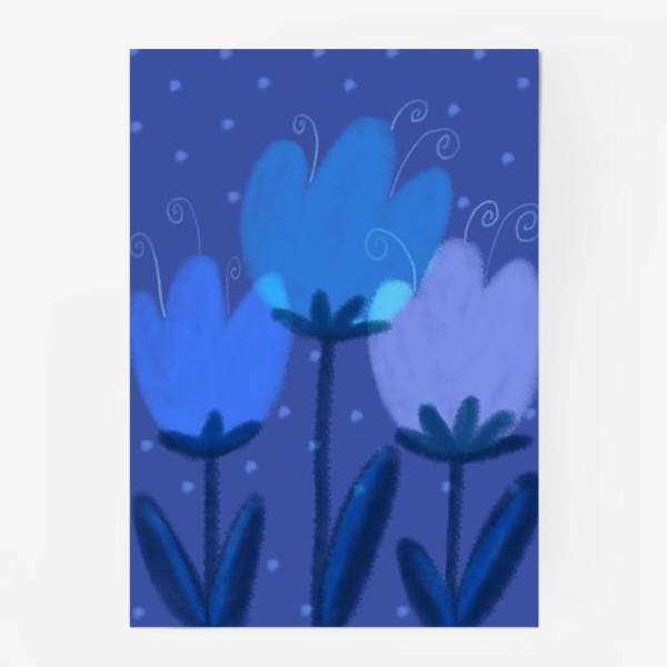 Постер «Синие тюльпаны»