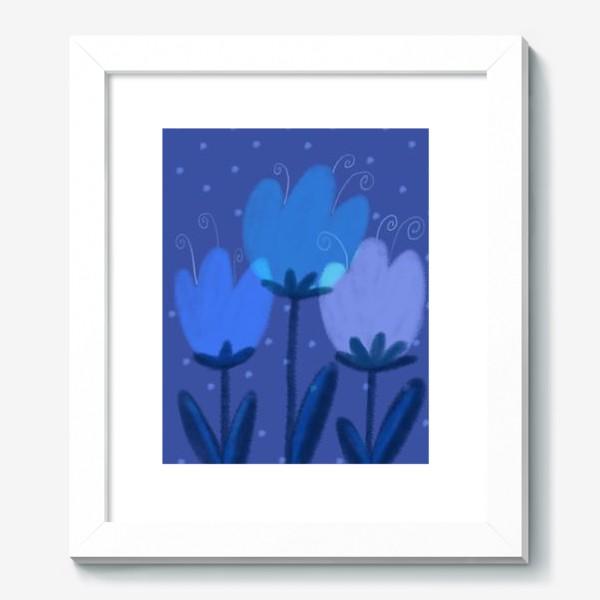 Картина «Синие тюльпаны»