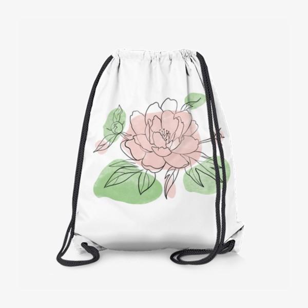 Рюкзак «Нежный пион»