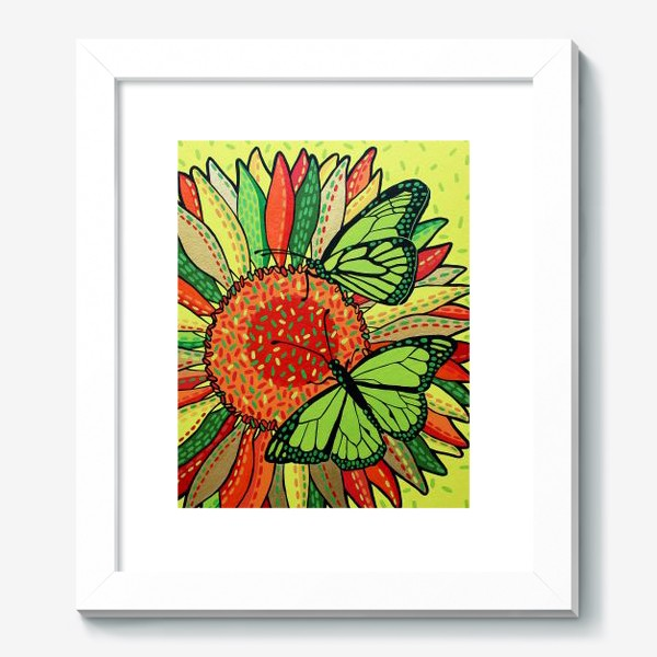 Картина «Лето. Бабочки на цветке»