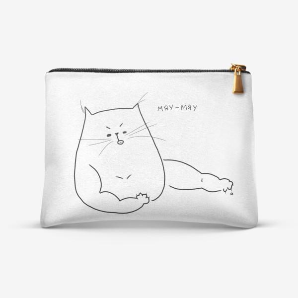 Косметичка «Кот мускулистый. Мяу-мяу »