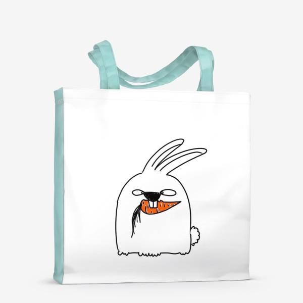 Сумка-шоппер «Кролик грызет морковь »