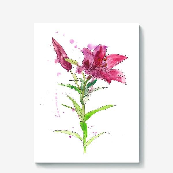 Холст «Розовая лилия»