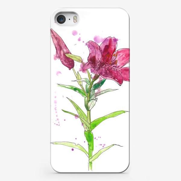 Чехол iPhone «Розовая лилия»