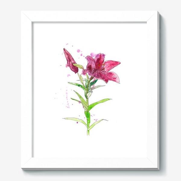 Картина «Розовая лилия»