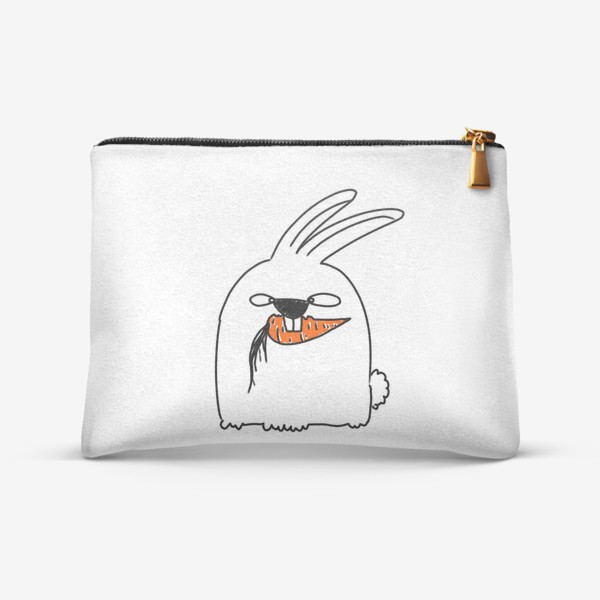 Косметичка «Кролик грызет морковь »