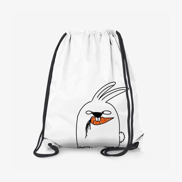 Рюкзак «Кролик грызет морковь »