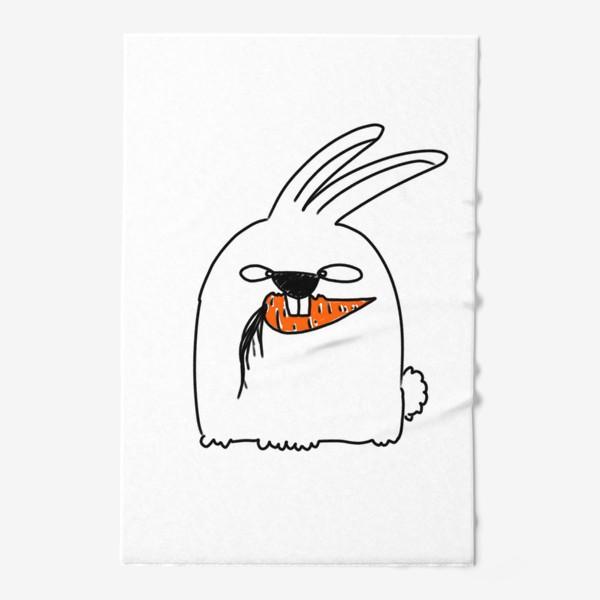 Полотенце «Кролик грызет морковь »