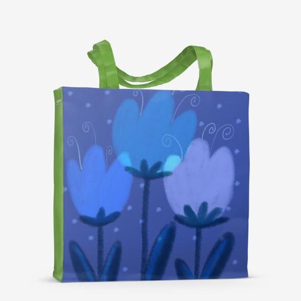 Сумка-шоппер «Синие тюльпаны»
