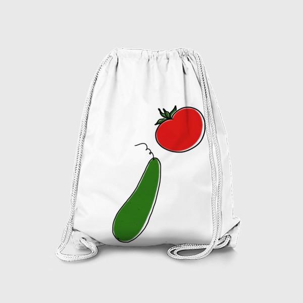 Рюкзак «Томат и огурец. Летнее »