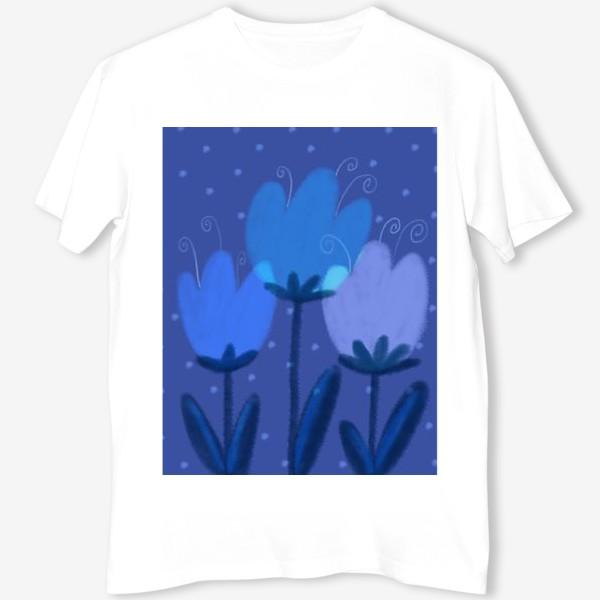 Футболка «Синие тюльпаны»