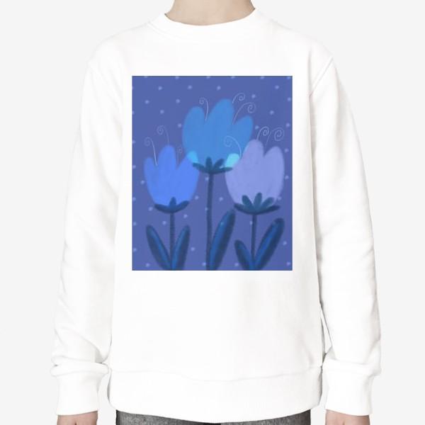 Свитшот «Синие тюльпаны»