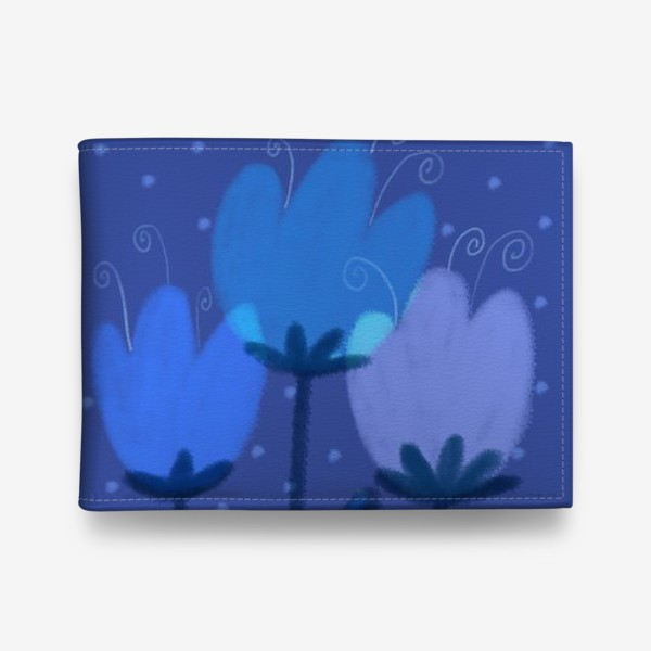 Кошелек «Синие тюльпаны»