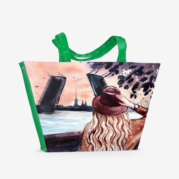 Пляжная сумка «белые ночи в Санкт-Петербурге»