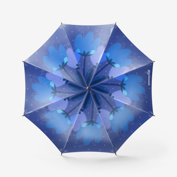 Зонт «Синие тюльпаны»