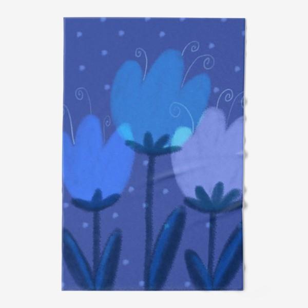 Полотенце «Синие тюльпаны»