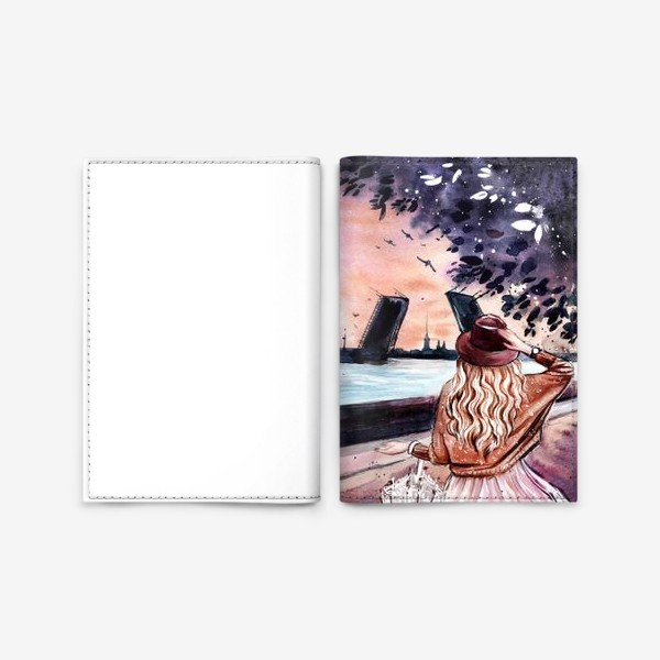 Обложка для паспорта «белые ночи в Санкт-Петербурге»