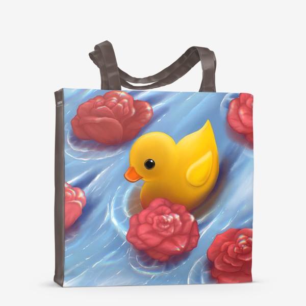 Сумка-шоппер «Уточка в розах»