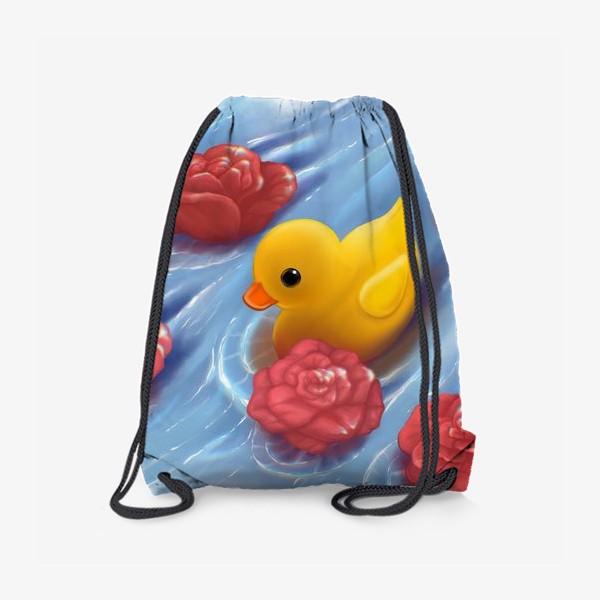 Рюкзак «Уточка в розах»