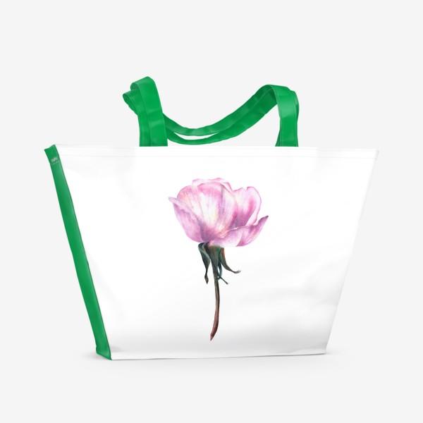 Пляжная сумка «Нежность розы»