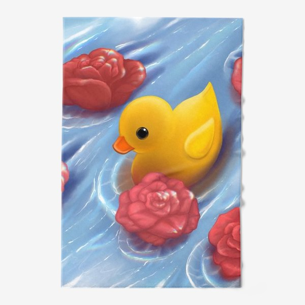 Полотенце «Уточка в розах»