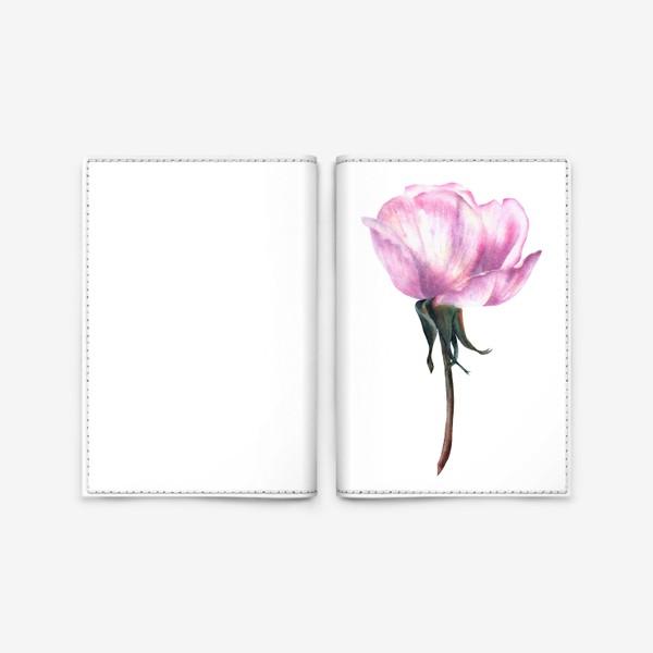 Обложка для паспорта «Нежность розы»