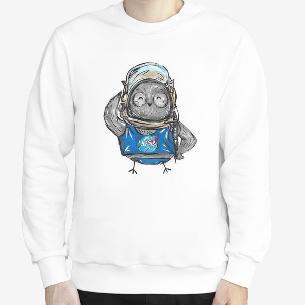 Свитшот «Совушка Фильх - космонавт»