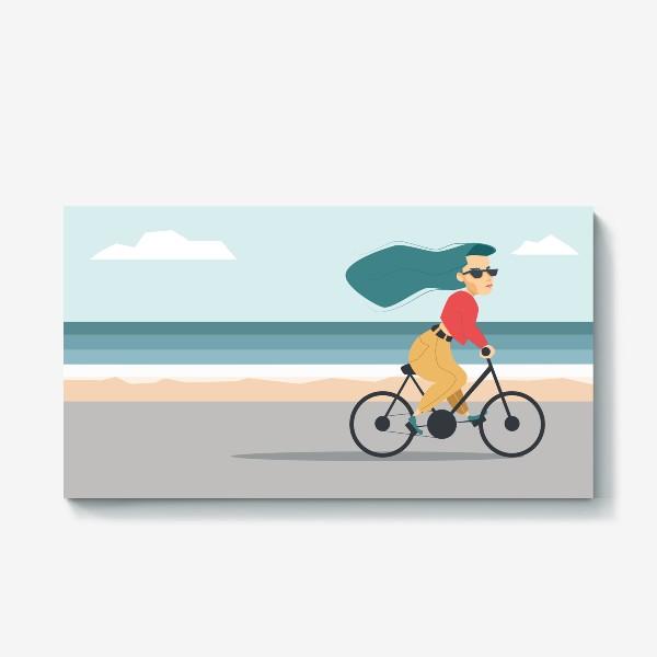 Холст «на велике вдоль пляжа»