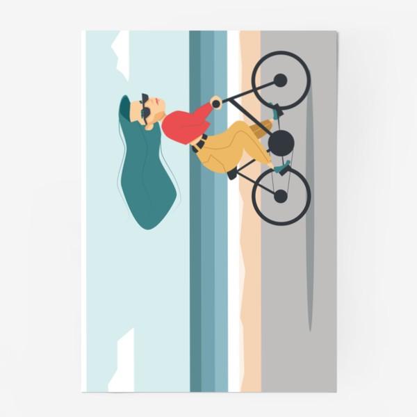 Постер «на велике вдоль пляжа»