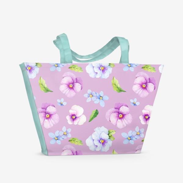 Пляжная сумка «Виола и незабудки»