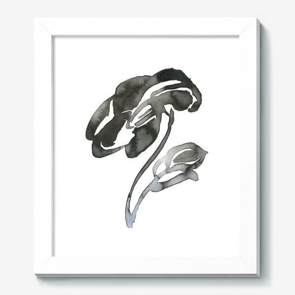 Картина «Цветок, графика, чернила»