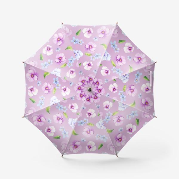 Зонт «Виола и незабудки»