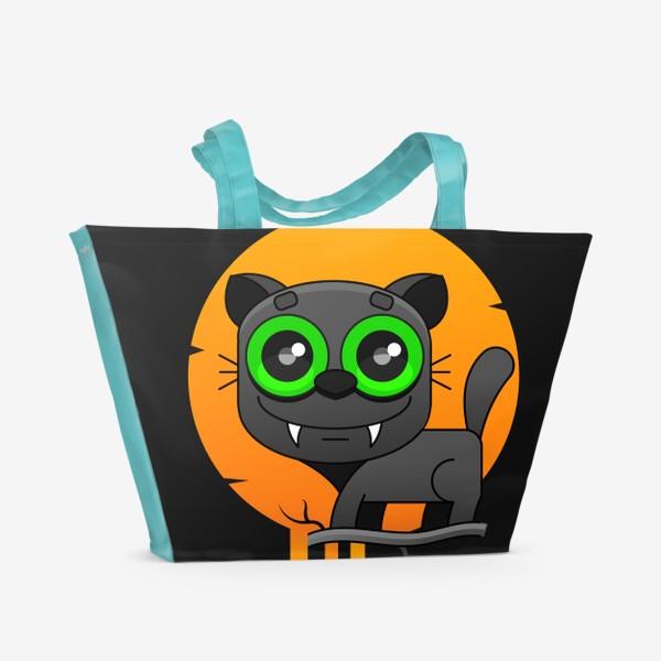 Пляжная сумка «кот»