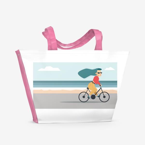 Пляжная сумка «на велике вдоль пляжа»