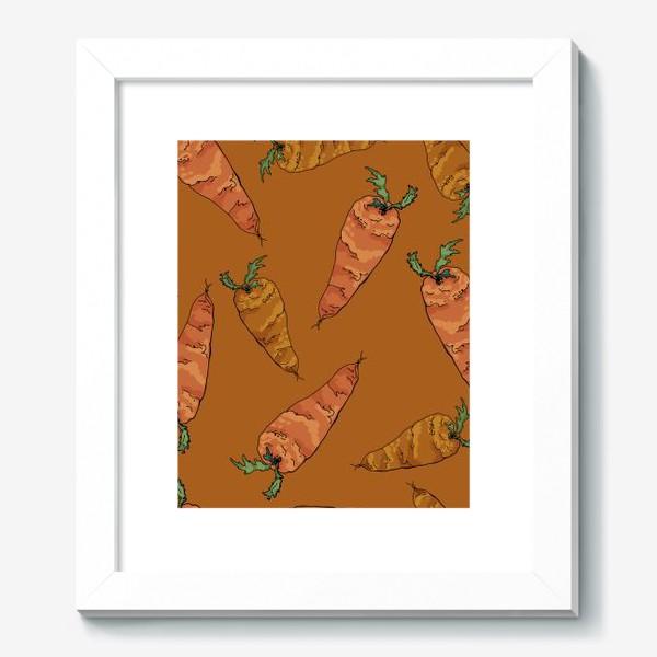 Картина «Морковный паттерн на терракотовом »