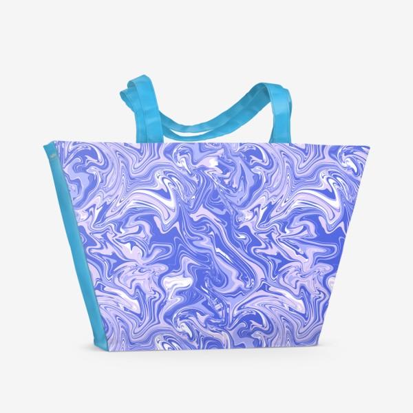Пляжная сумка «Мраморный узор/Узор эпоксидной смолы»