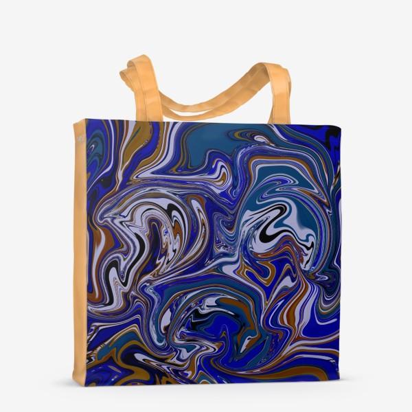 Сумка-шоппер «Мраморный узор/ Узор эпоксидной смолы»