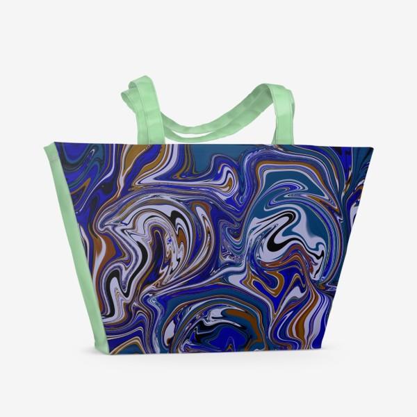 Пляжная сумка «Мраморный узор/ Узор эпоксидной смолы»