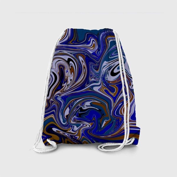 Рюкзак «Мраморный узор/ Узор эпоксидной смолы»