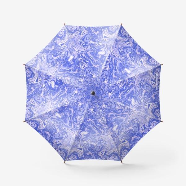 Зонт «Мраморный узор/Узор эпоксидной смолы»
