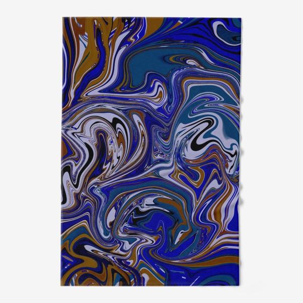 Полотенце «Мраморный узор/ Узор эпоксидной смолы»