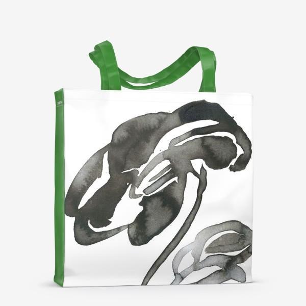 Сумка-шоппер «Цветок, графика, чернила»