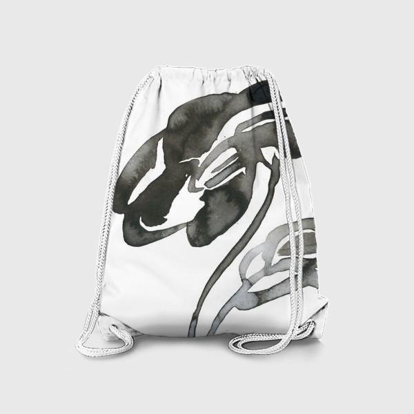 Рюкзак «Цветок, графика, чернила»
