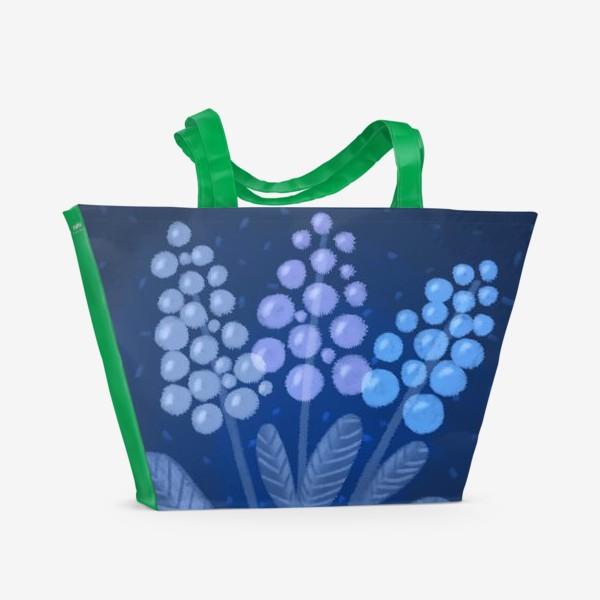 Пляжная сумка «Лунные цветы»