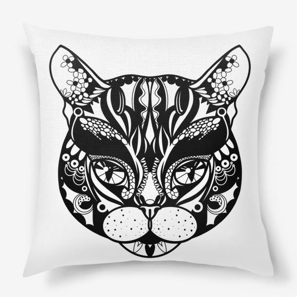 Подушка «Морда кота. Кот. Люблю котов»