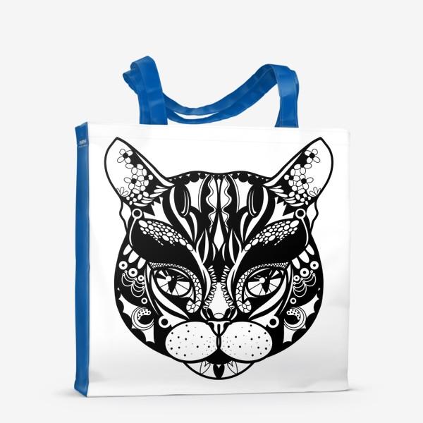 Сумка-шоппер «Морда кота. Кот. Люблю котов»
